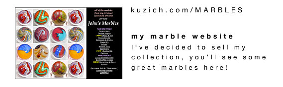 link to John Kuzich's Collecting marbles website